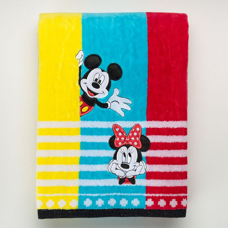 Disney's Mickey & Minnie Mouse Applique Bath Towel