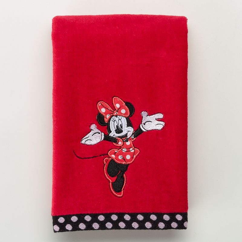 Disney's Minnie Mouse Applique Hand Towel