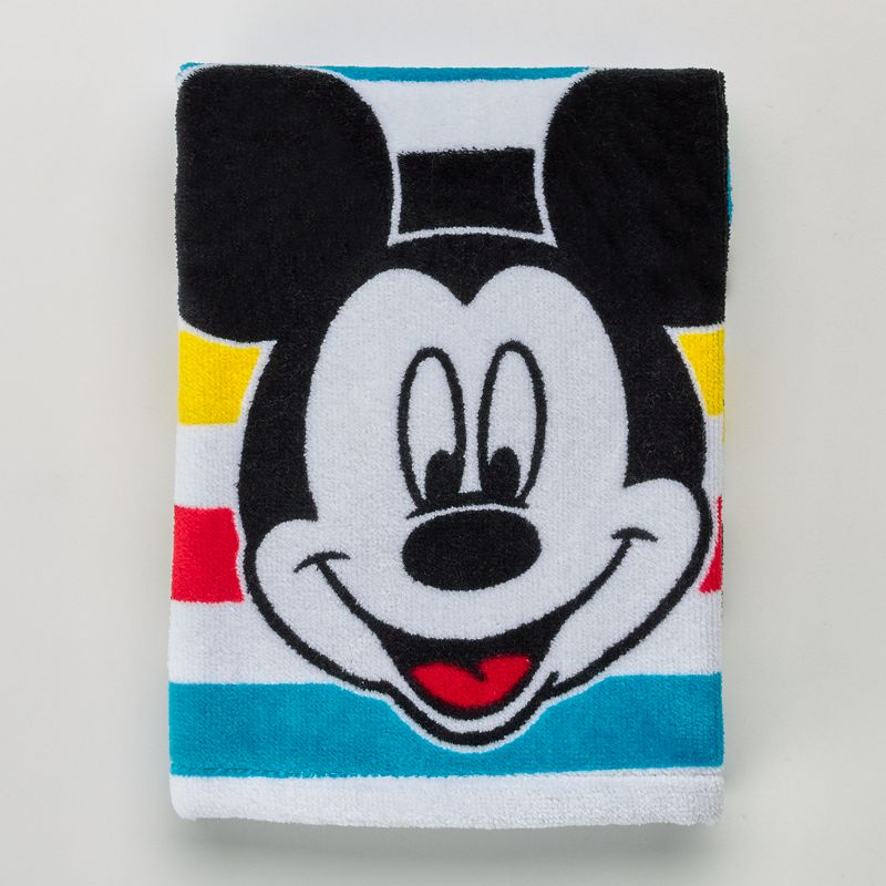 Disney's Mickey Mouse Striped Hand Towel