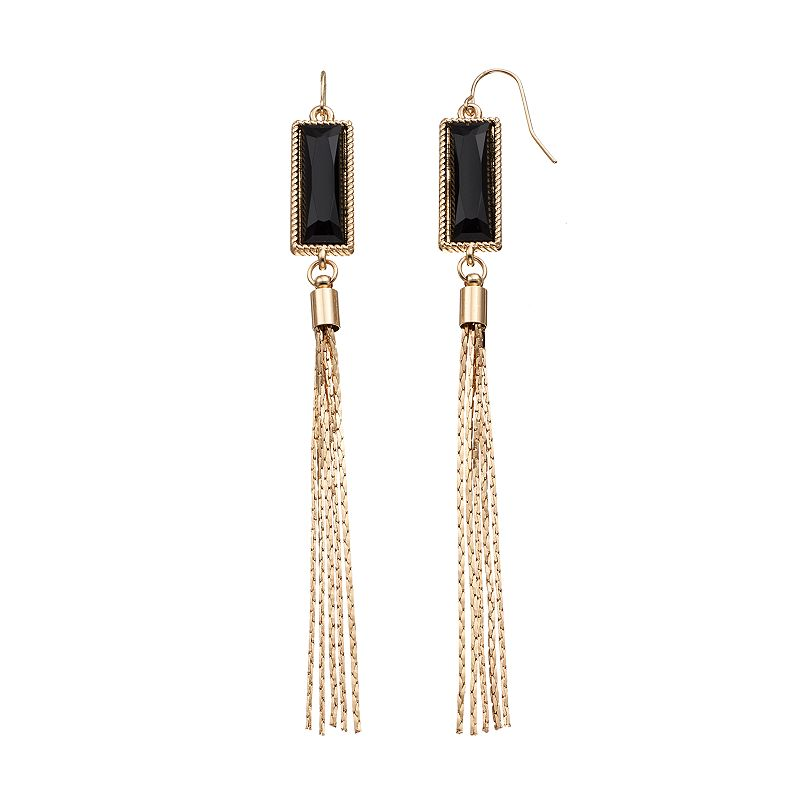 GS by gemma simone Molten Metals Collection Fringe Drop Earrings
