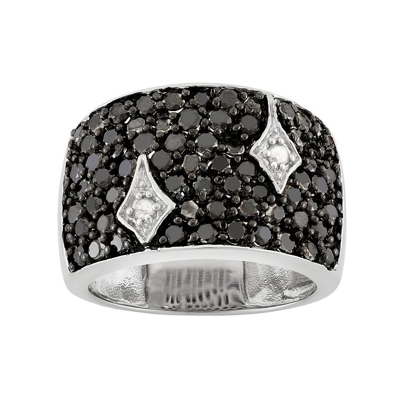 2 Carat T.W. Black & White Diamond Sterling Silver Ring