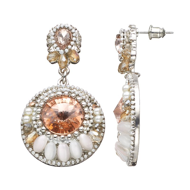 GS by gemma simone Vintage Filigree Collection Circle Drop Earrings