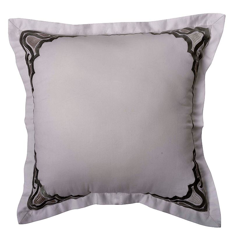 Williamsburg Davenport Embroidered Border Throw Pillow
