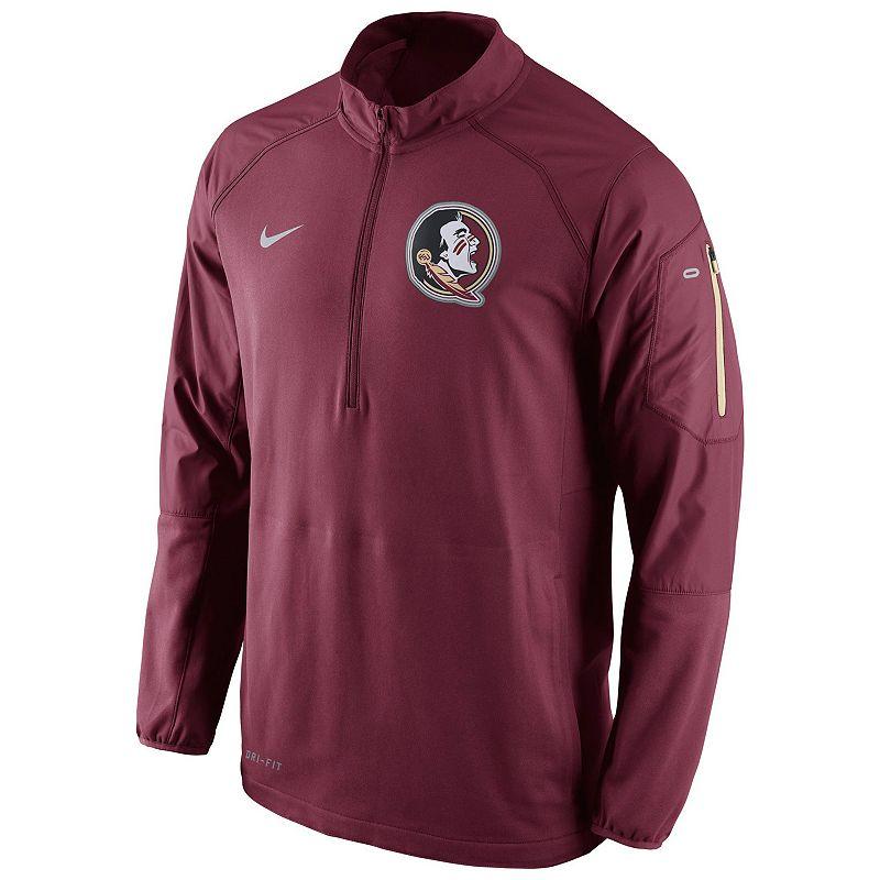 Men's Nike Florida State Seminoles Quarter-Zip Hybrid Jacket