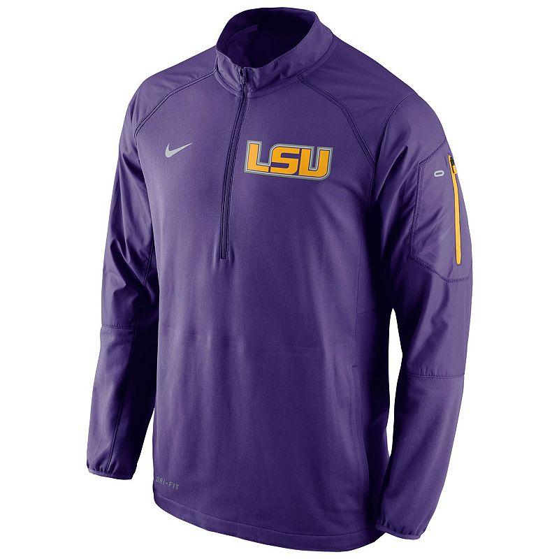 Men's Nike LSU Tigers Quarter-Zip Hybrid Jacket