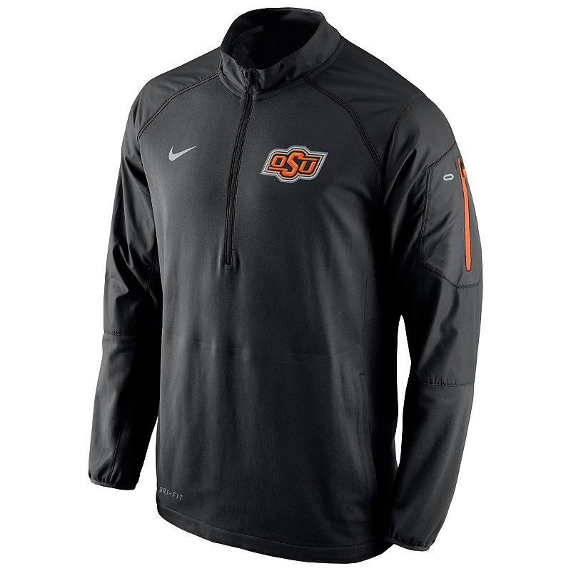 Men's Nike Oklahoma State Cowboys Quarter-Zip Hybrid Jacket