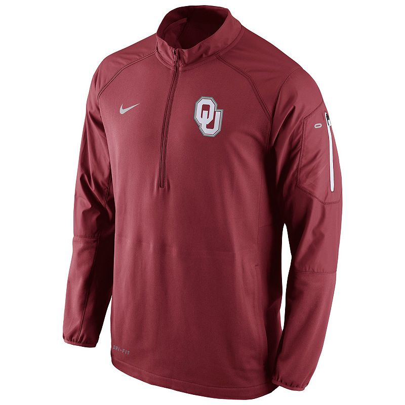Men's Nike Oklahoma Sooners Quarter-Zip Hybrid Jacket