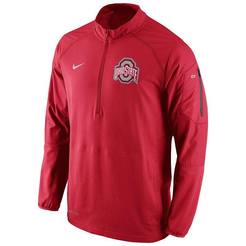 Men's Nike Ohio State Buckeyes Quarter-Zip Hybrid Jacket