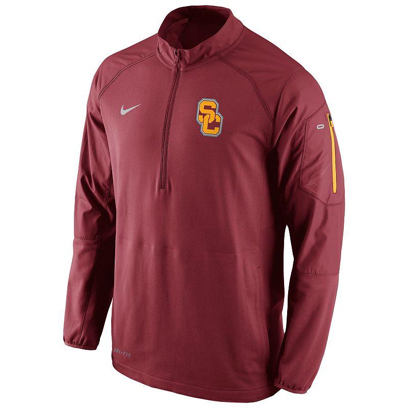 Men's Nike USC Trojans Quarter-Zip Hybrid Jacket