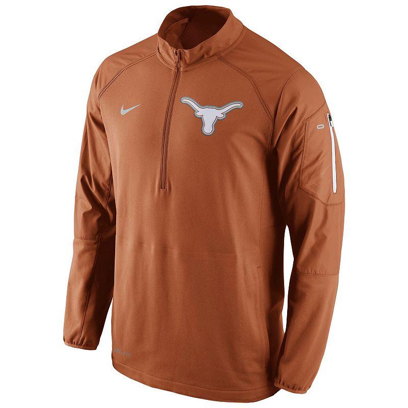 Men's Nike Texas Longhorns Quarter-Zip Hybrid Jacket
