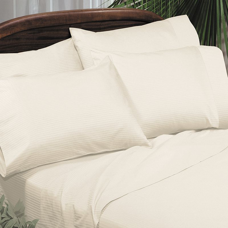 Veratex American Collection Medici Dobby Stripe 310-Thread Count Egyptian Cotton Sateen Deep-Pocket Sheets