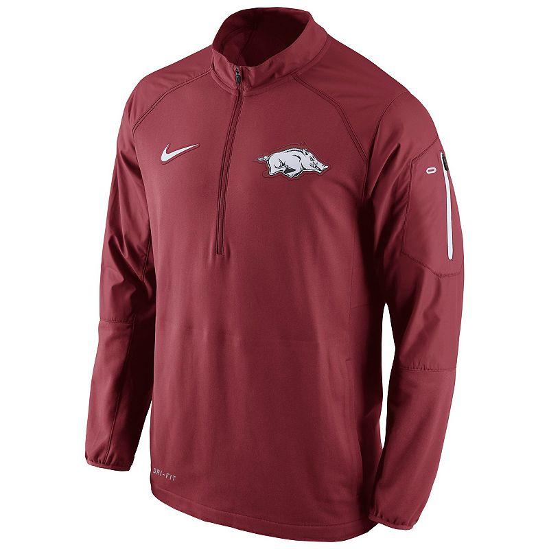 Men's Nike Arkansas Razorbacks Quarter-Zip Hybrid Jacket