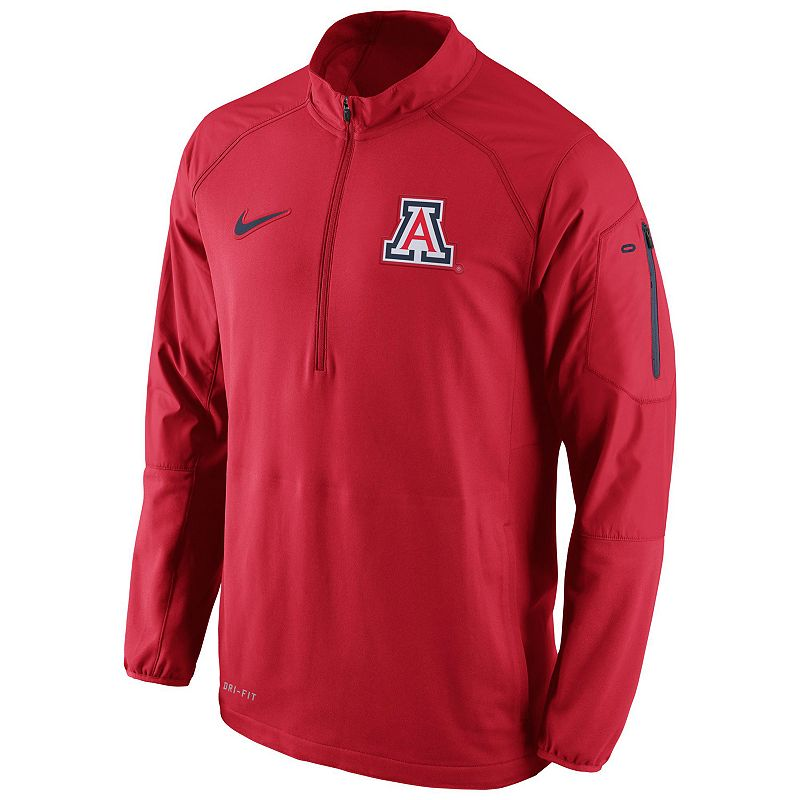 Men's Nike Arizona Wildcats Quarter-Zip Hybrid Jacket