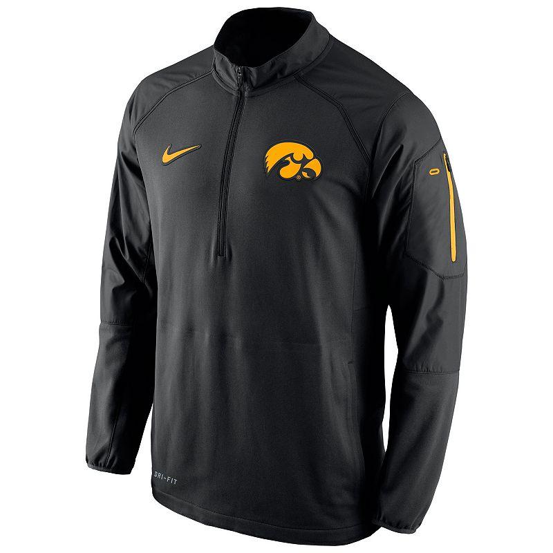 Men's Nike Iowa Hawkeyes Quarter-Zip Hybrid Jacket