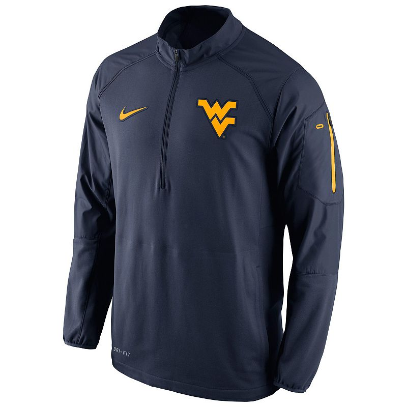 Men's Nike West Virginia Mountaineers Quarter-Zip Hybrid Jacket