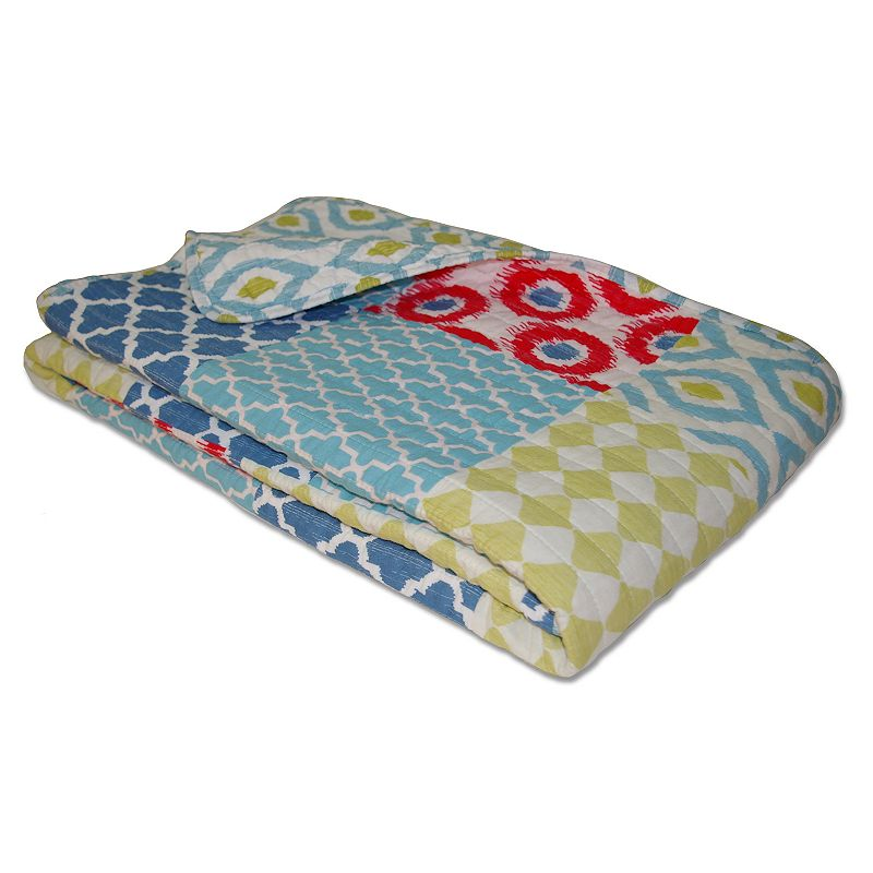 Allover Quilted Reversible Throw