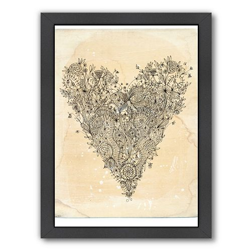 Framed Love Wall Decor : Americanflat paula mills  love art framed wall