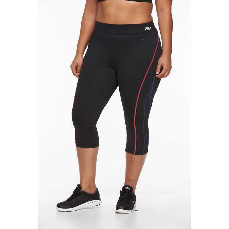 Plus Size FILA SPORT® Verve Skimmer Capri Workout Leggings