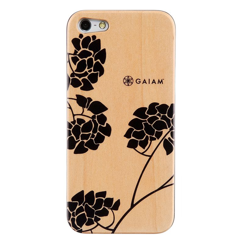 Gaiam iPhone 5 / 5S Wood Hard Shell Cell Phone Case