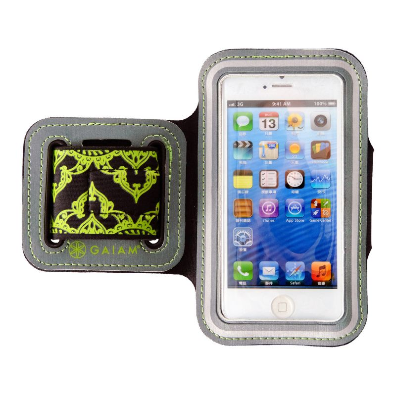 Gaiam Scroll iPhone 5 \/ 5S Sport Armband, Green