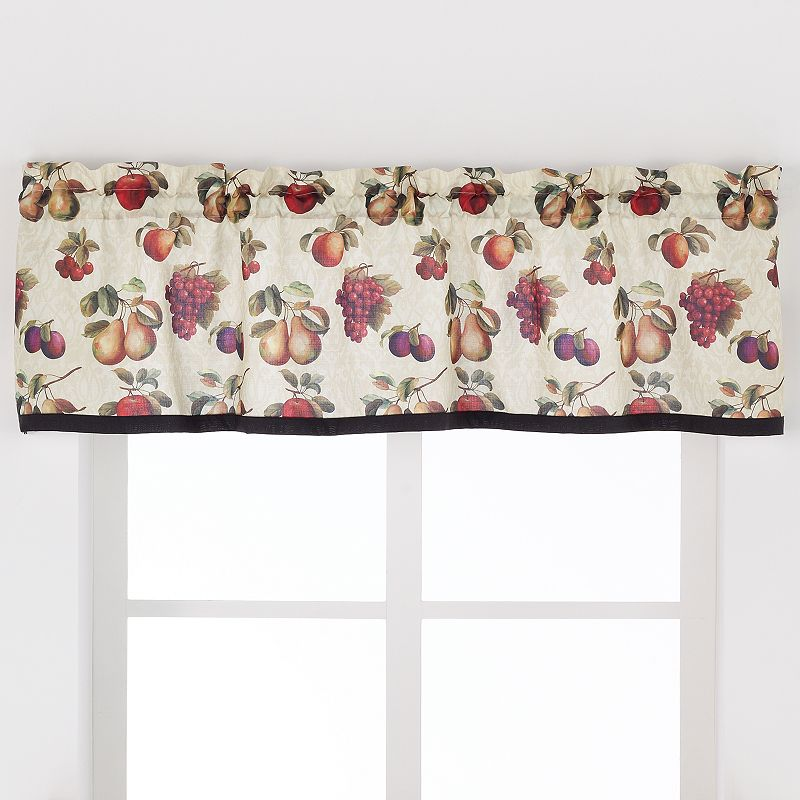 Saturday Knight, Ltd. Fruits Du Marche Straight Valance - 57'' x 13''