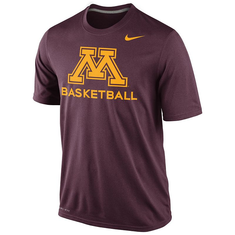 Men's Nike Minnesota Golden Gophers Basketball Practice Performance Tee