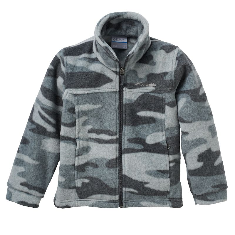 Perfect for chilly days and nights, this boys' Columbia fleece jacket gives him an extra layer of warmth under his favorite softshell or vest.