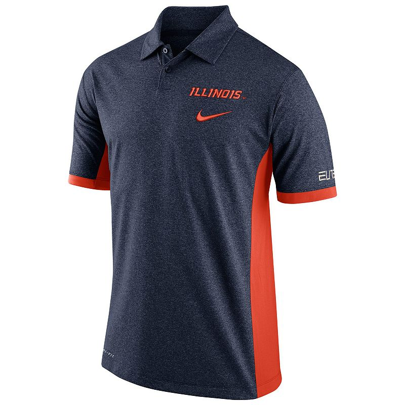 Men's Nike Illinois Fighting Illini Colorblock Basketball Polo