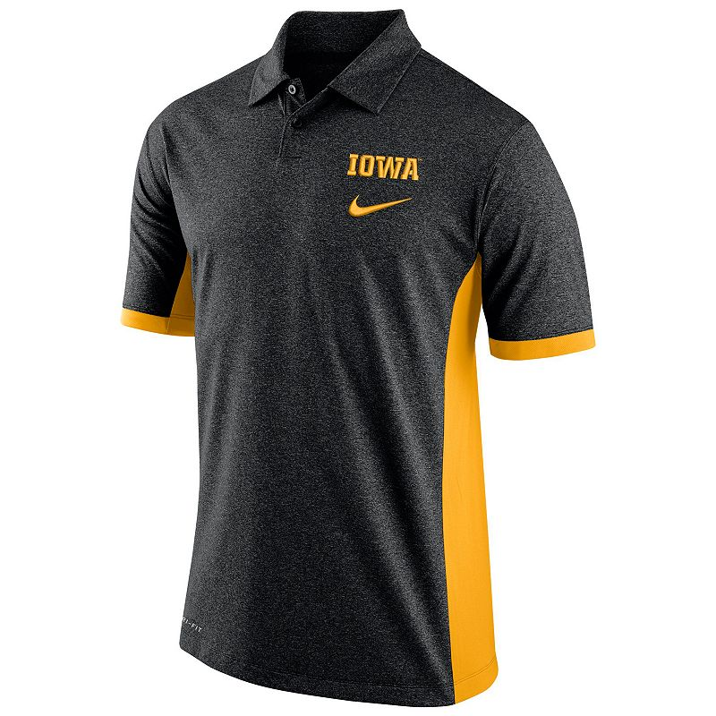 Men's Nike Iowa Hawkeyes Colorblock Basketball Polo