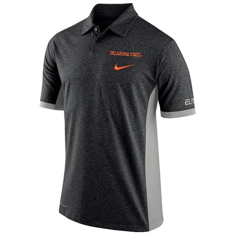 Men's Nike Oklahoma State Cowboys Colorblock Basketball Polo