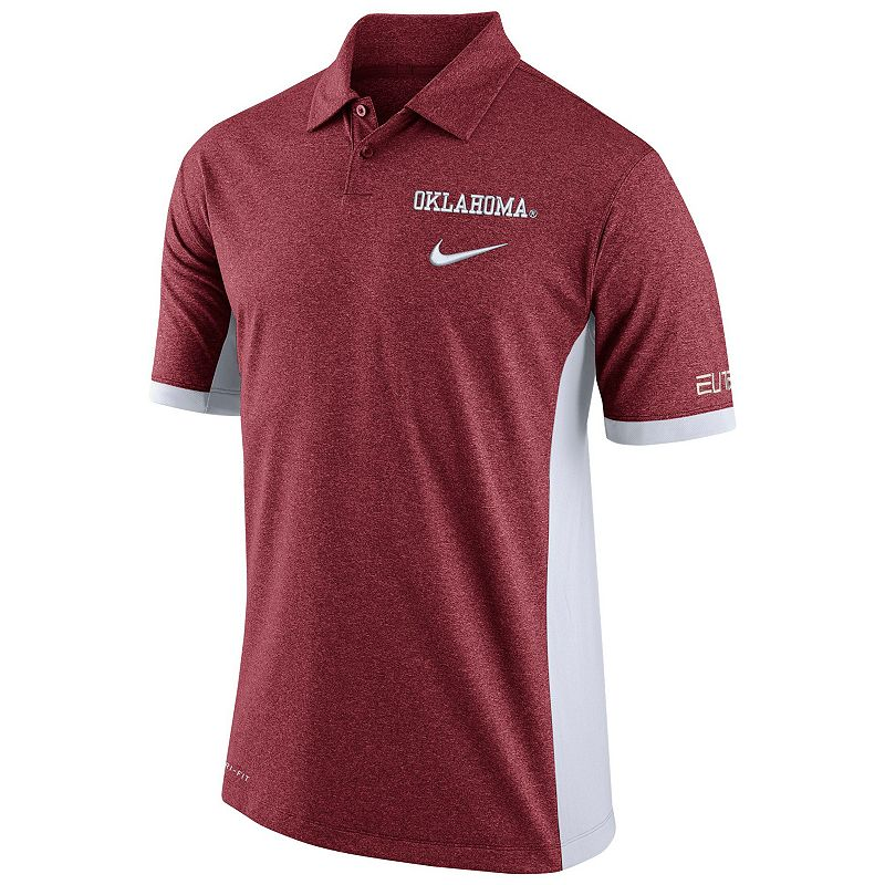 Men's Nike Oklahoma Sooners Colorblock Basketball Polo