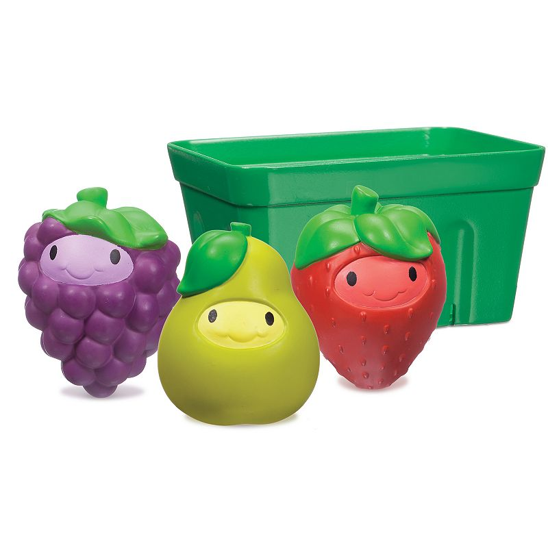 Munchkin Squirt n' Strain Fruit Basket Bath Toy Set