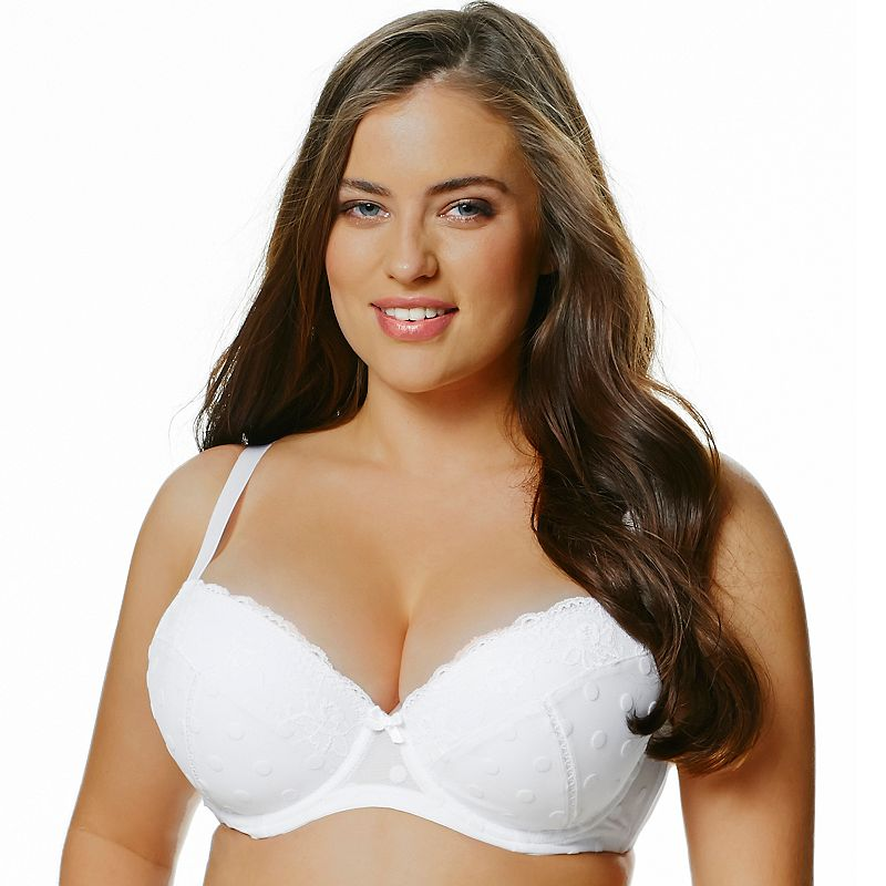 Perfects Australia Bra Kate Curve It Up Flocked Full-Coverage Balconette T-Shirt - 14UBR73