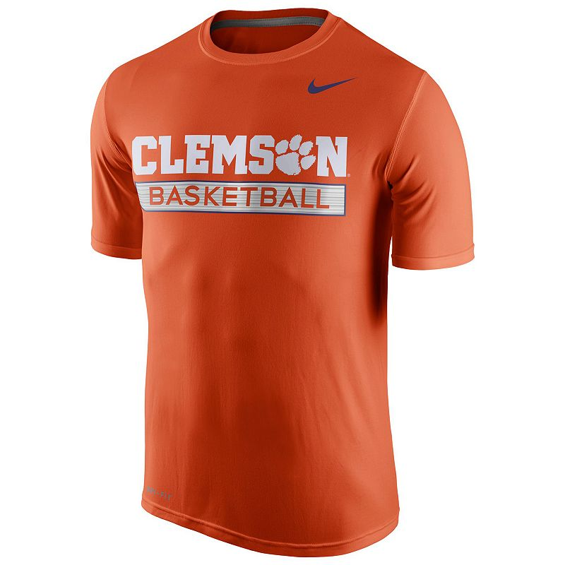 Men's Nike Clemson Tigers Basketball Practice Dri-FIT Tee