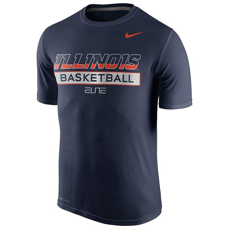 Men's Nike Illinois Fighting Illini Basketball Practice Dri-FIT Tee