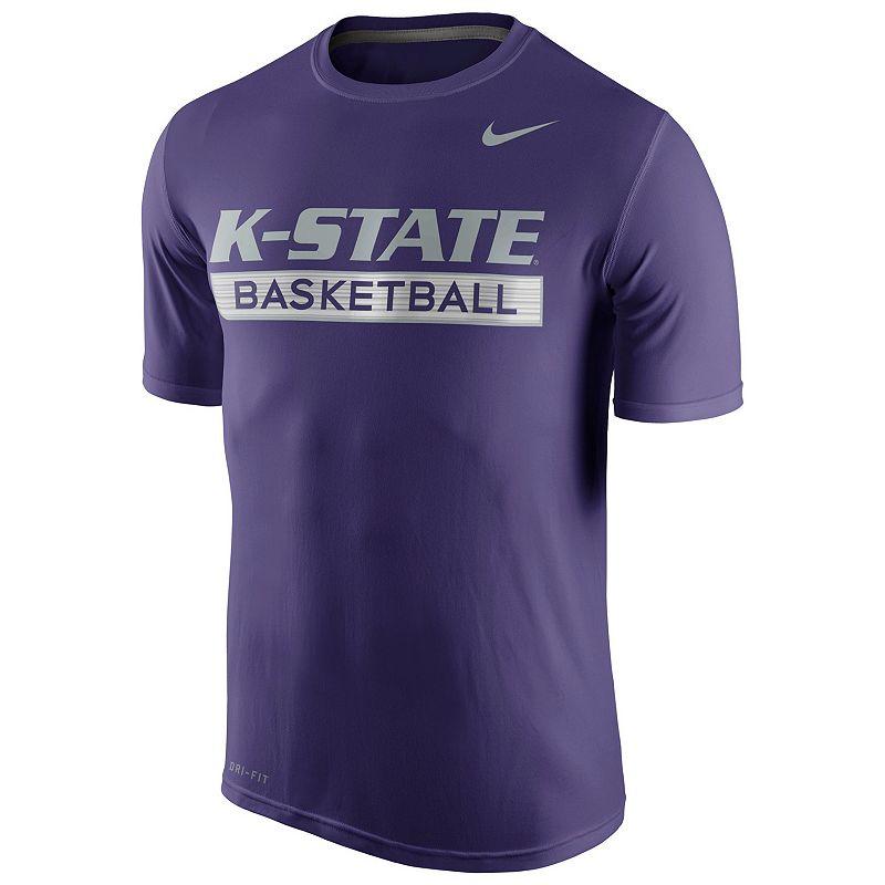 Men's Nike Kansas State Wildcats Basketball Practice Dri-FIT Tee