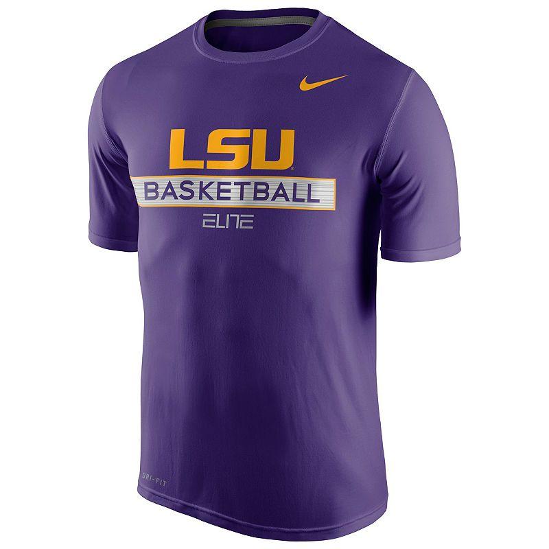 Men's Nike LSU Tigers Basketball Practice Dri-FIT Tee