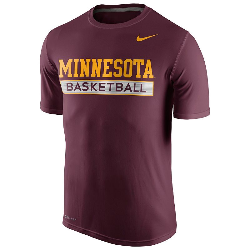 Men's Nike Minnesota Golden Gophers Basketball Practice Dri-FIT Tee