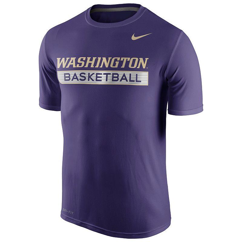 Men's Nike Washington Huskies Basketball Practice Dri-FIT Tee