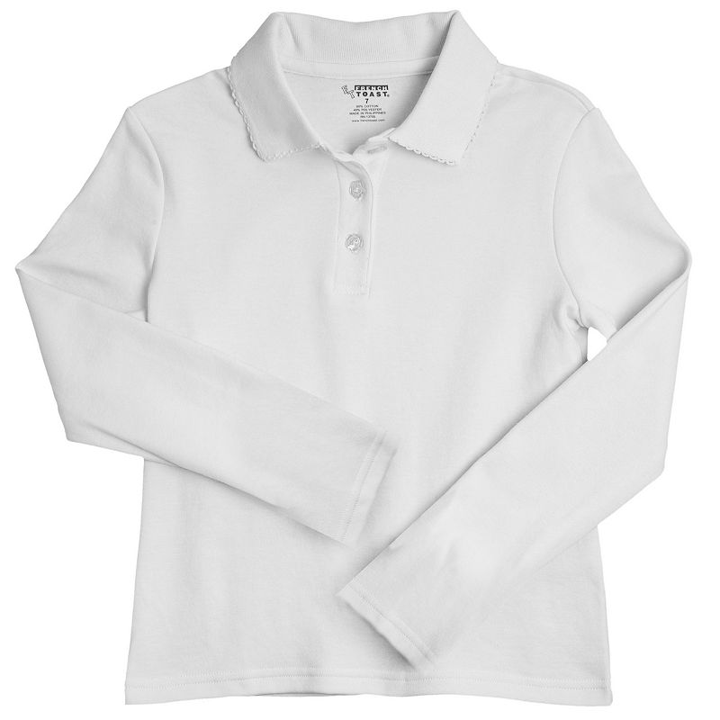 Girls 7-16 & Plus Size French Toast School Uniform Picot Polo