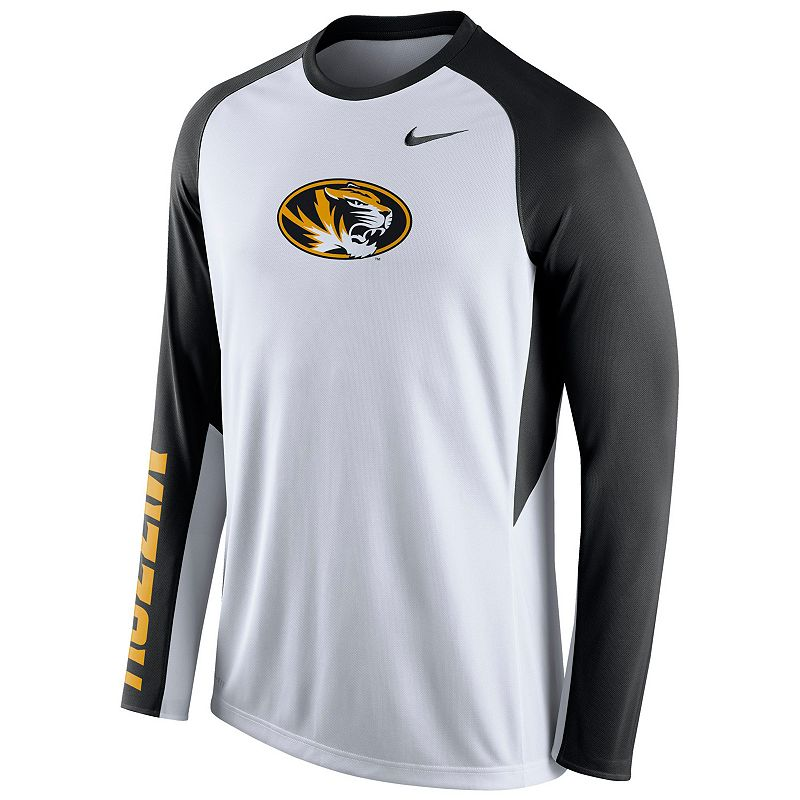Men's Nike Missouri Tigers Elite Shootaround Performance Tee