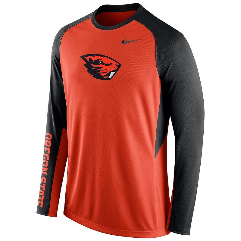 Men's Nike Oregon State Beavers Elite Shootaround Performance Tee