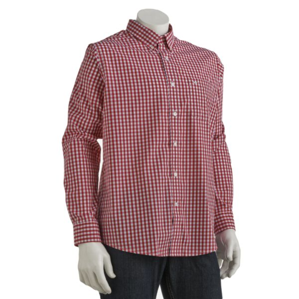Big & Tall Dockers® Checked Casual Button-Down Shirt