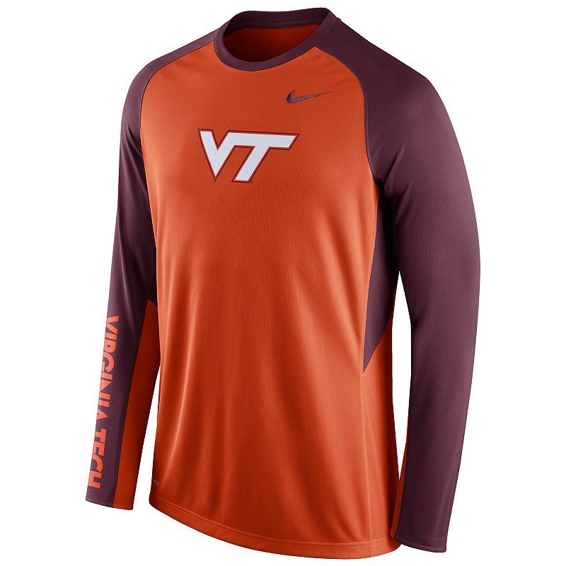 Men's Nike Virginia Tech Hokies Elite Shootaround Performance Tee