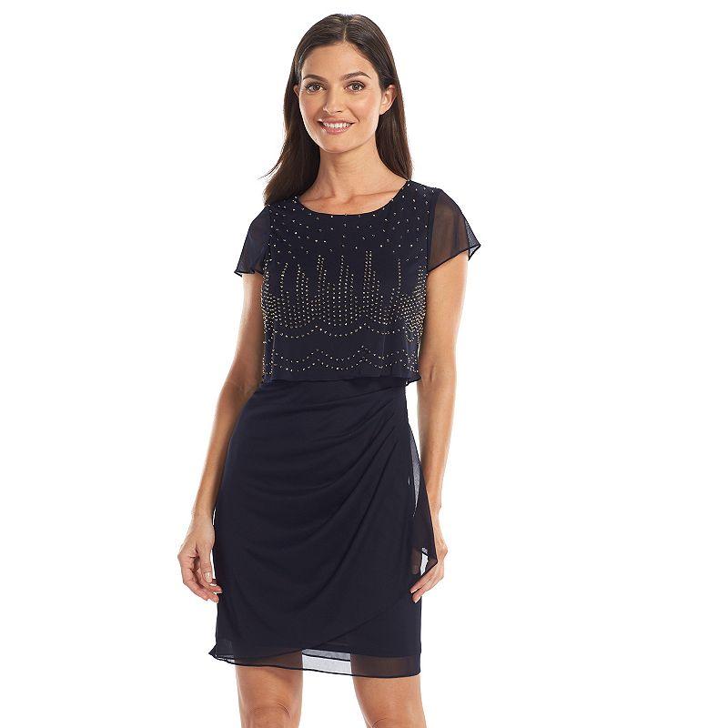 1 by 8 Beaded Popover Mesh Dress - Women's