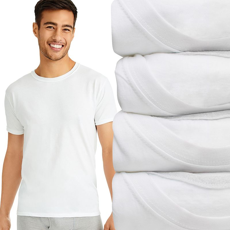 Men's Hanes Ultimate 4-pack Slim-Fit ComfortBlend Tees