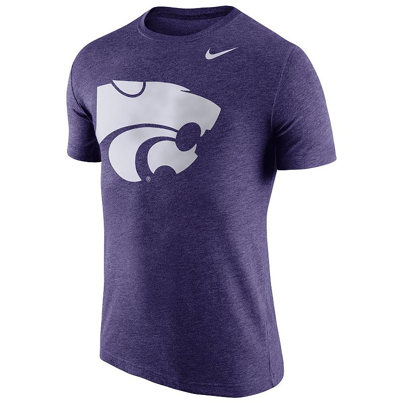 Men's Nike Kansas State Wildcats Tri-Blend Logo Tee
