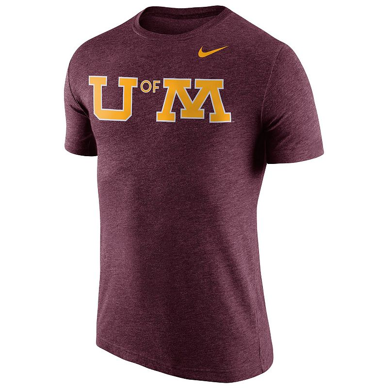 Men's Nike Minnesota Golden Gophers Tri-Blend Logo Tee