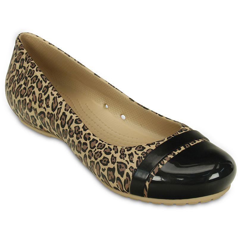 Crocs Cap Toe Women's Leopard Print Flats