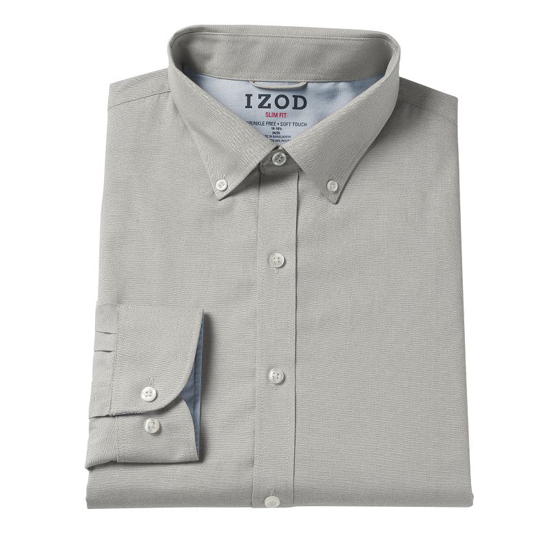 Men's IZOD Slim-Fit Button-Down Collar Dress Shirt